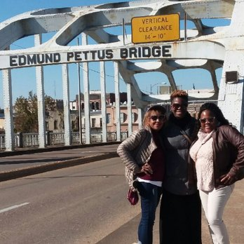 Photo of Edmund Pettus Bridge - Selma, AL, United States. Hanging out on the famous bridge.