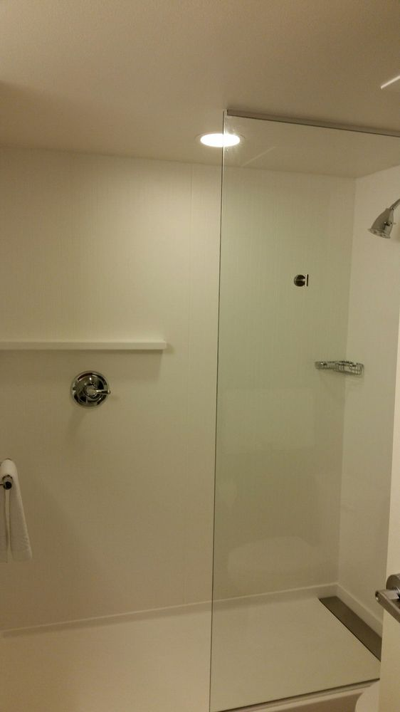 Shower And No Glass Door Yelp