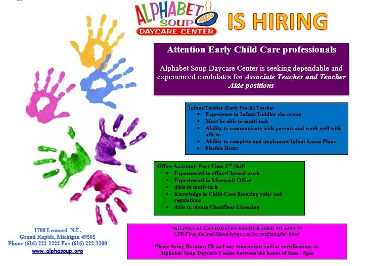 Alphabet Soup Day Care Center Child Care Day Care 1708 Leonard