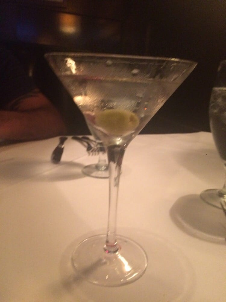 Perfect Martini They Have Blue Cheese Stuffed Olives Or
