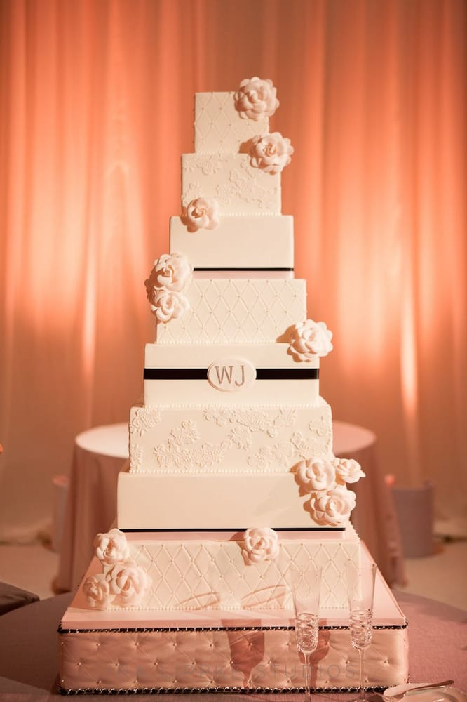 Chanel inspired 8 tier wedding cake - Yelp