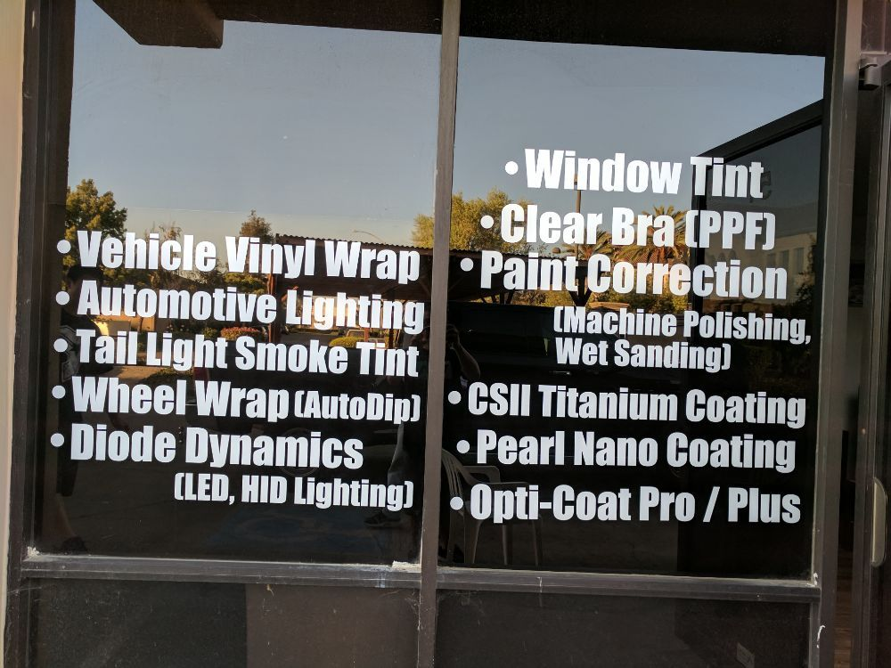 Vinyl wrapped black trim with Pearl Nano Coating on painted