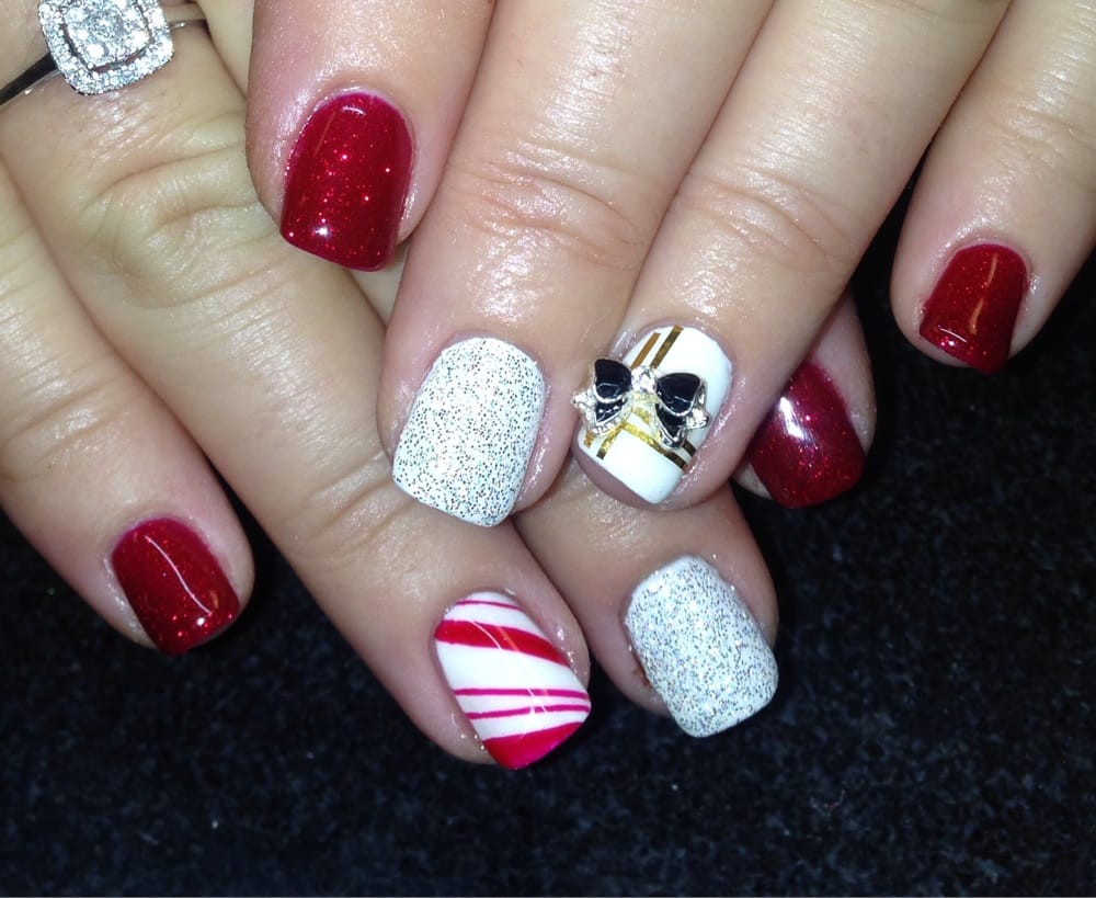 Holiday nails by Christy! - Yelp