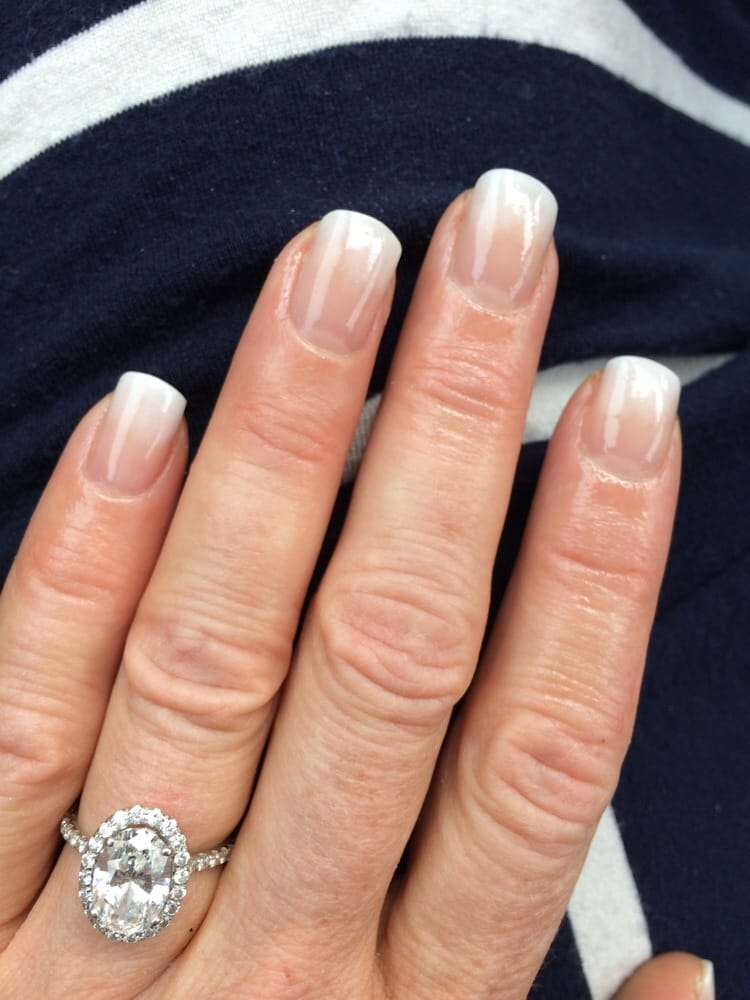 Graduated french manicure! Wedding day nails.. Thank you Lisa!!! I ...