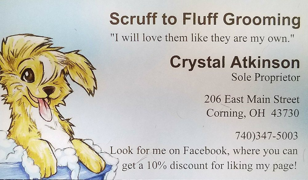 Scruff to Fluff Grooming: 206 E Main St, Corning, OH