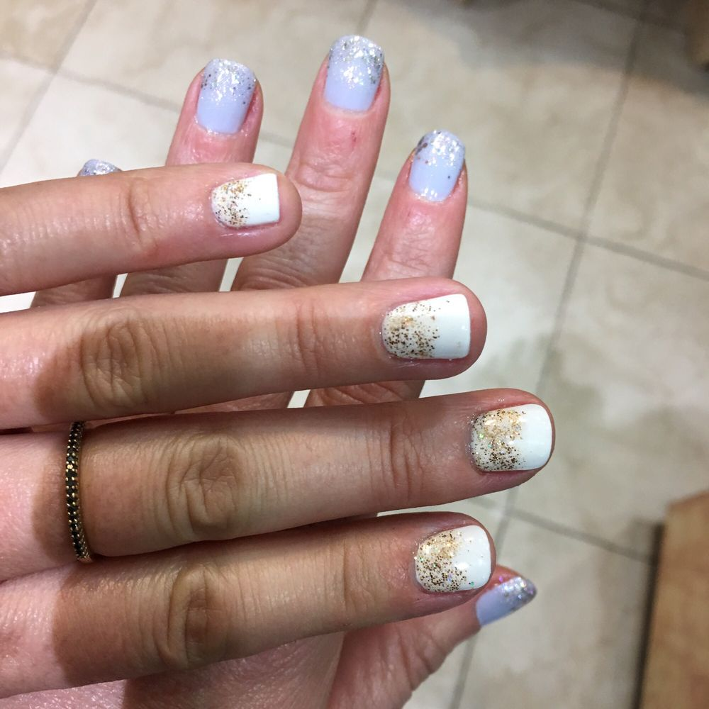 Our fun holiday gels at Queen Nails! - Yelp
