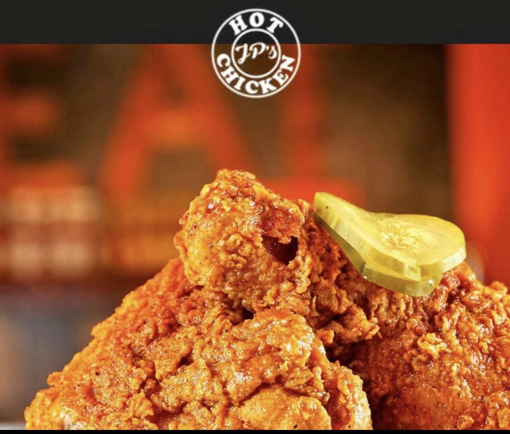 Food from JP's Hot Chicken