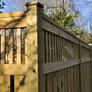 Custom Wood Boxed Photo Of Champion Fence Builders Charlotte Nc United States Semi Privacy