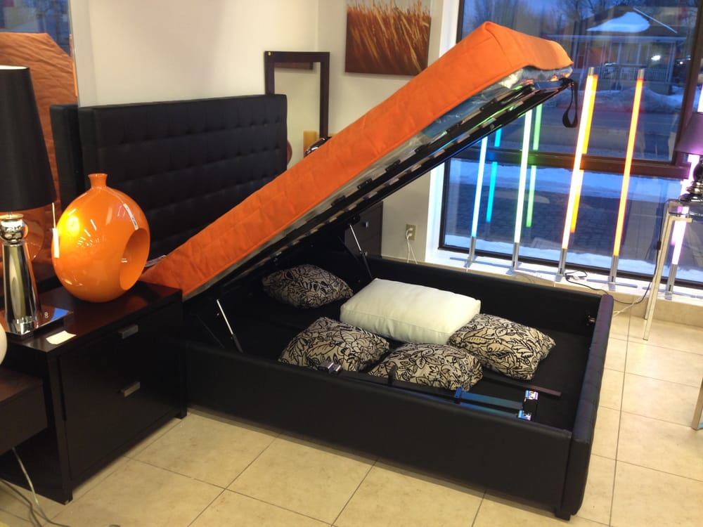 Lift up storage beds on display at furniture toronto 700 for B furniture toronto