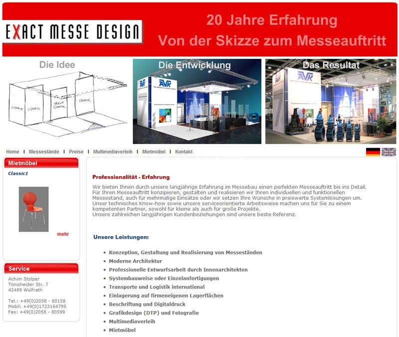 exact messe desing graphic design t nisheider str 7. Black Bedroom Furniture Sets. Home Design Ideas