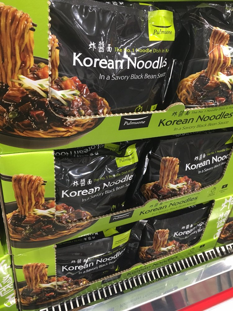 Korean Noodle With Black Bean Sauce Product Of Korea Yelp