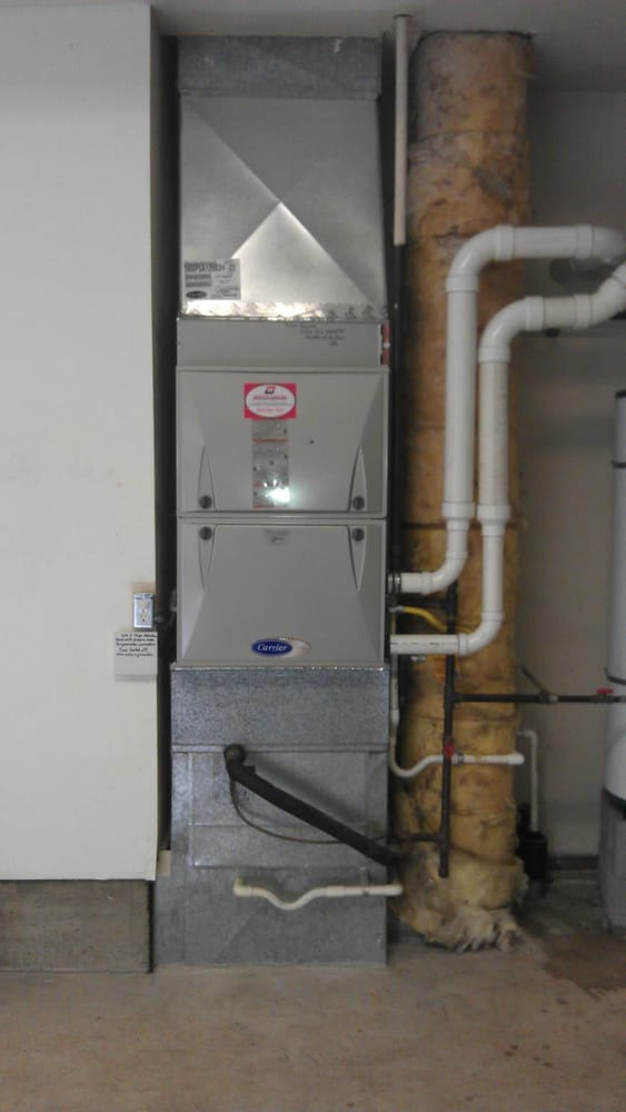 A Recent Installation Of A New Carrier High Efficiency Gas