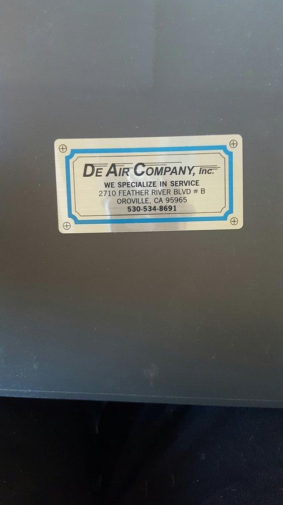 De Air Company: 2710 Feather River Blvd, Oroville, CA