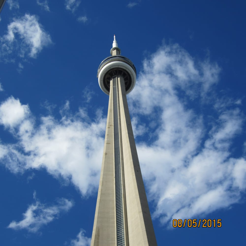 View Of Cn Tower From Inside The Rogers Centre Yelp