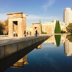 photo of templo de debod madrid