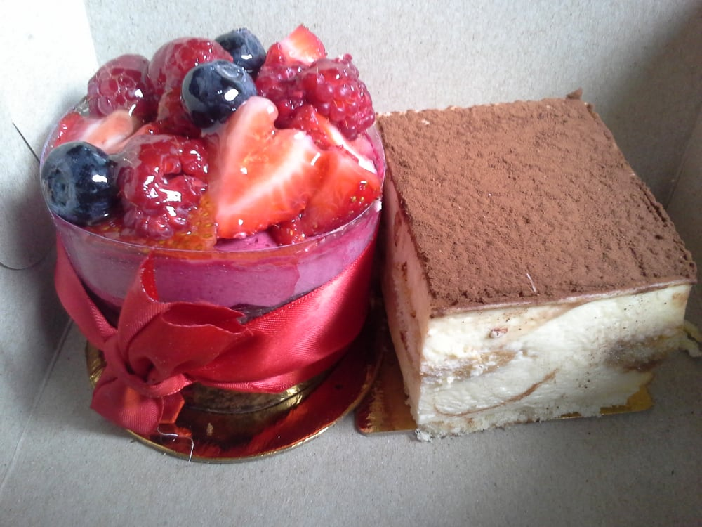 Desire Layers Of Mocha Cake With Raspberry Mousse
