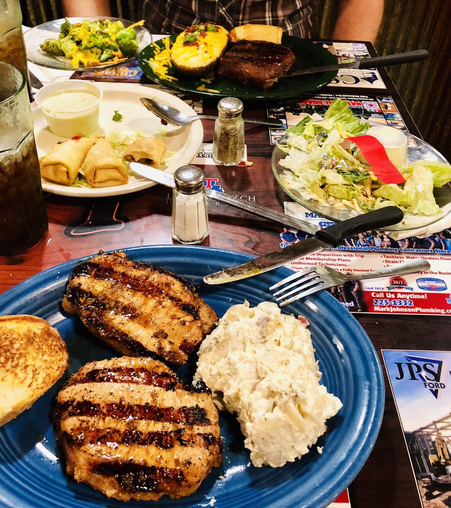 Food from Log Cabin Grill & Market