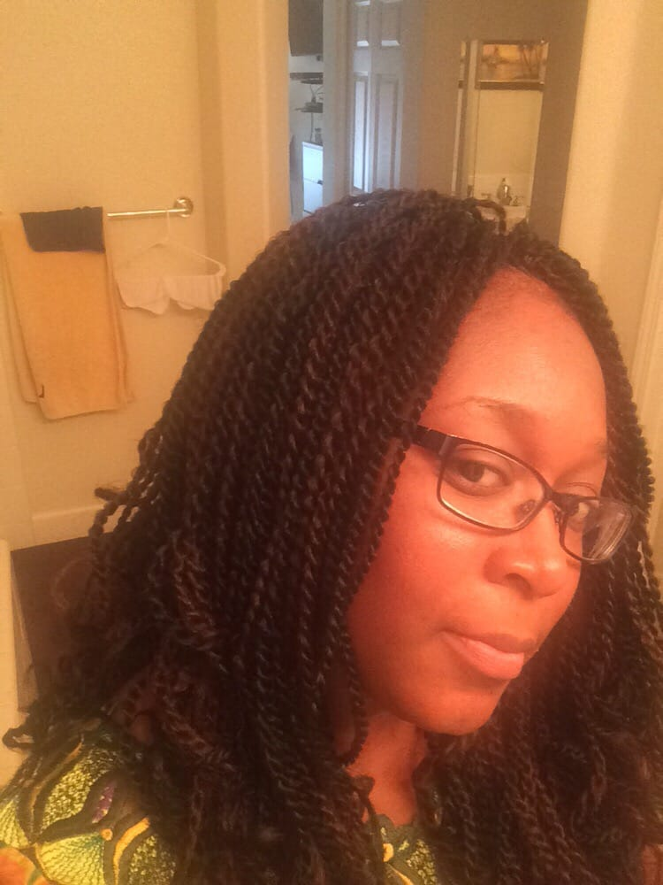 Crochet braids with pre twisted senegalese hair yelp for Crochet braids salon