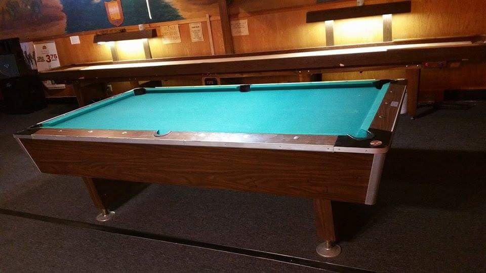 Two Coin Operated Pool Tables And FREE Shuffleboard Yelp - United billiards pool table coin operated