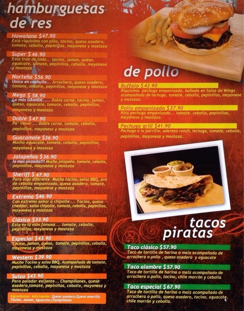Tu Tierra Restaurant Menu