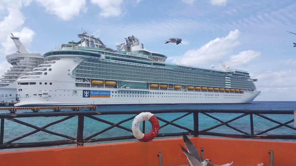 Docked in jamaica the ship shines in its beauty yelp - Allure of the seas fort lauderdale port address ...