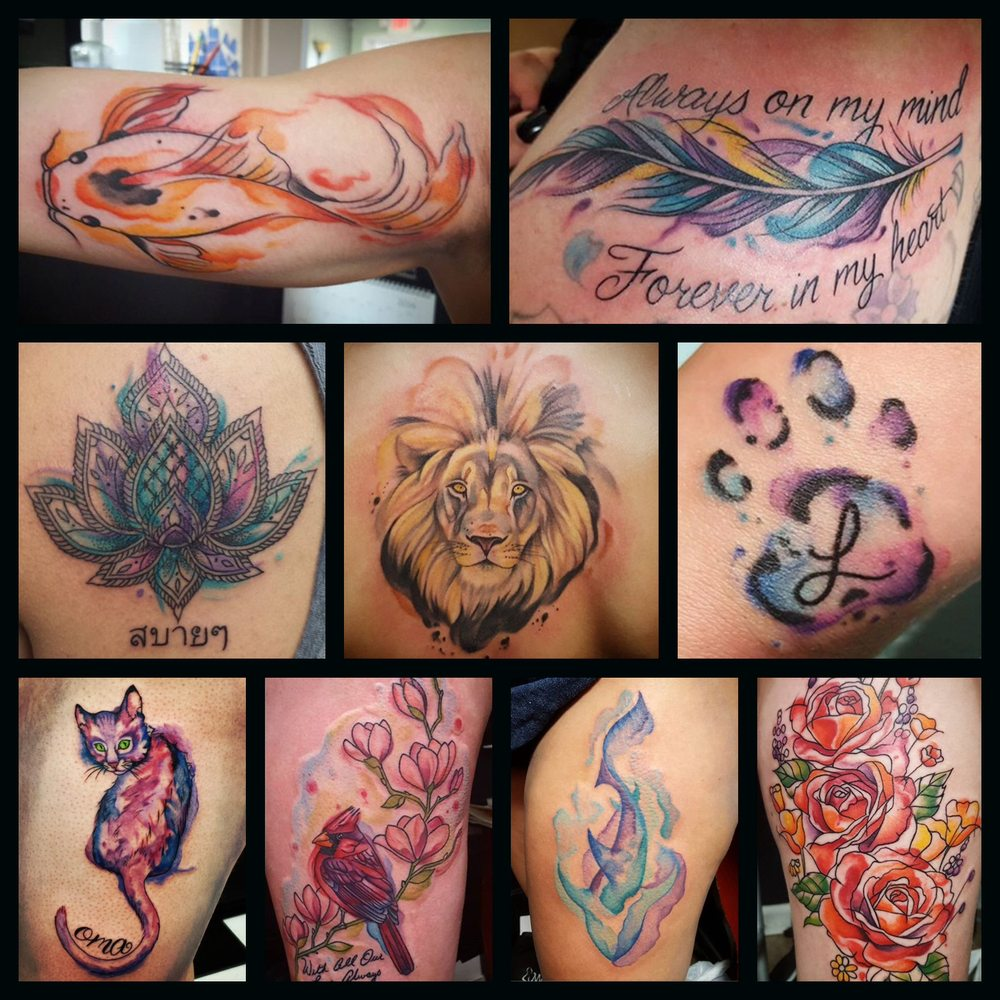 Voorkeur Looking for a cool watercolor tattoo? Our artist HANNAH CLOCK IS @CO33