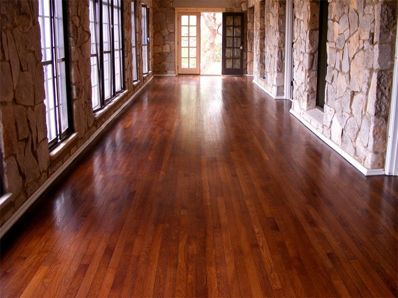 Refinished Antique Oak With Chestnut Stain And Natural Wax