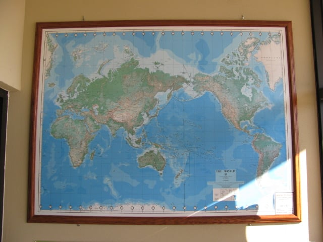 Dma defense mapping agency topographical world map in the entryway photo of milwaukee map service wauwatosa wi united states dma defense gumiabroncs Choice Image