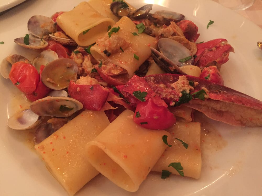 Paccheri with Lobster and clams - Yelp