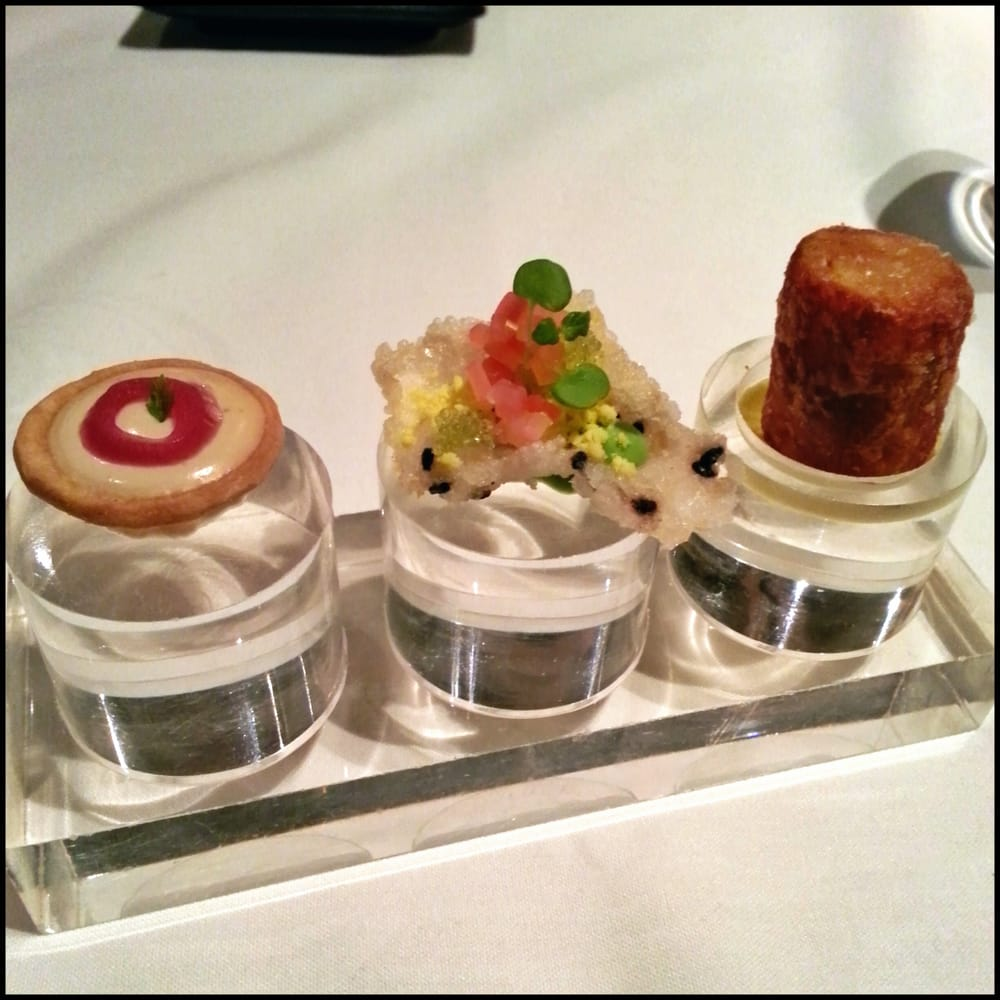 A trio of amuse bouche to start yelp for Amuse bouche cuisine