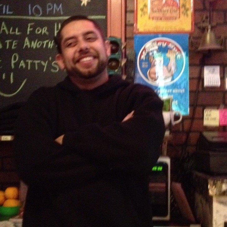 Ralph darts bar shaved head
