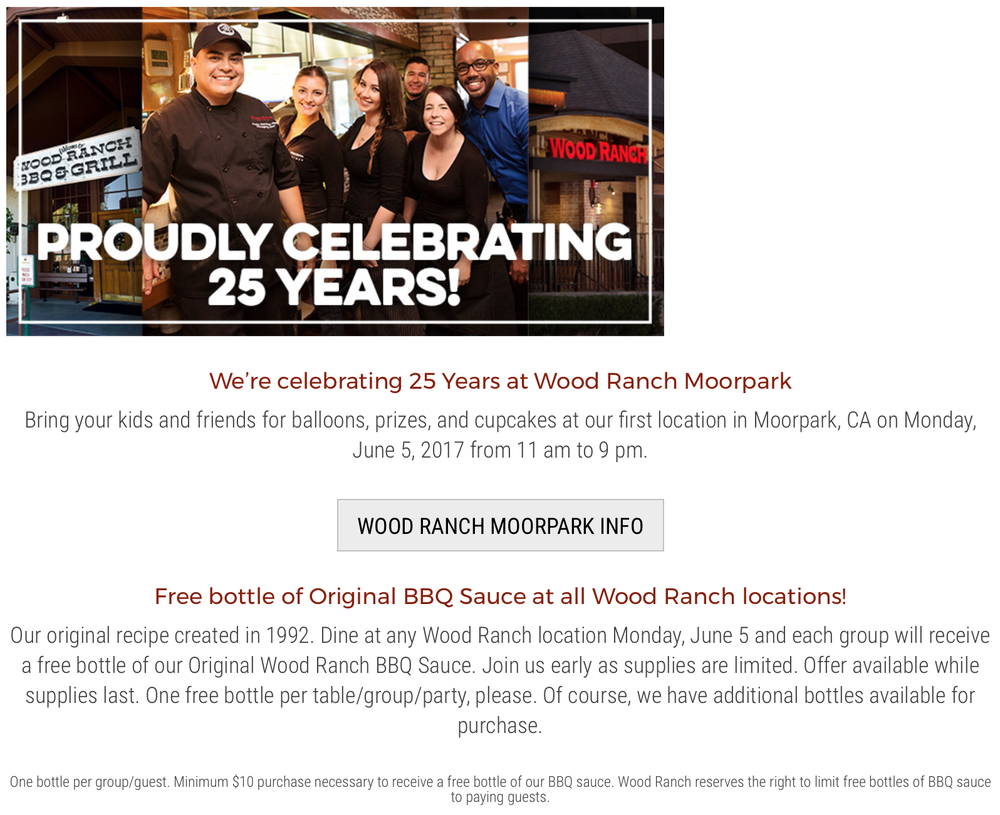 - Wood Ranch Moorpark BBQ Is Turning 25!, Moorpark Events - Yelp