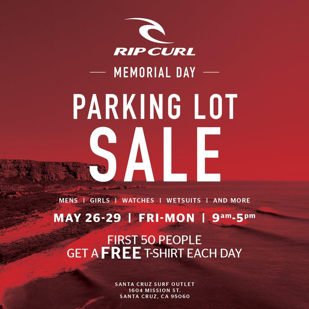 76052604c9 Rip Curl Outlet Parking Lot Sale
