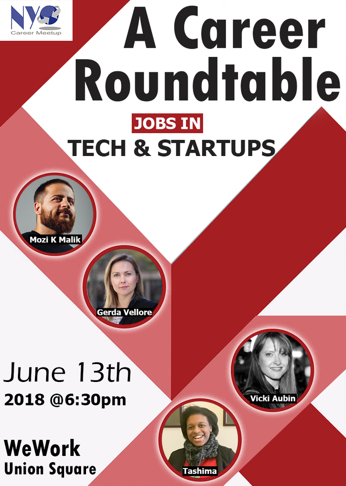 Jobs in Tech & StartUps - A Career Roundtable Event for Job