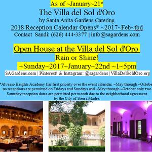 The 5th Annual Open House At The Villa Del Sol D Oro By