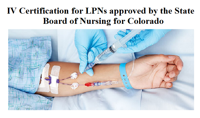 Iv And Fluid Therapy Certification For Lpns State Of