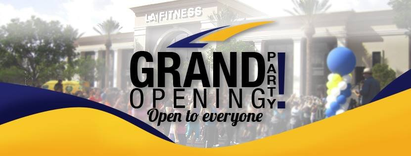 Image result for la fitness grand opening