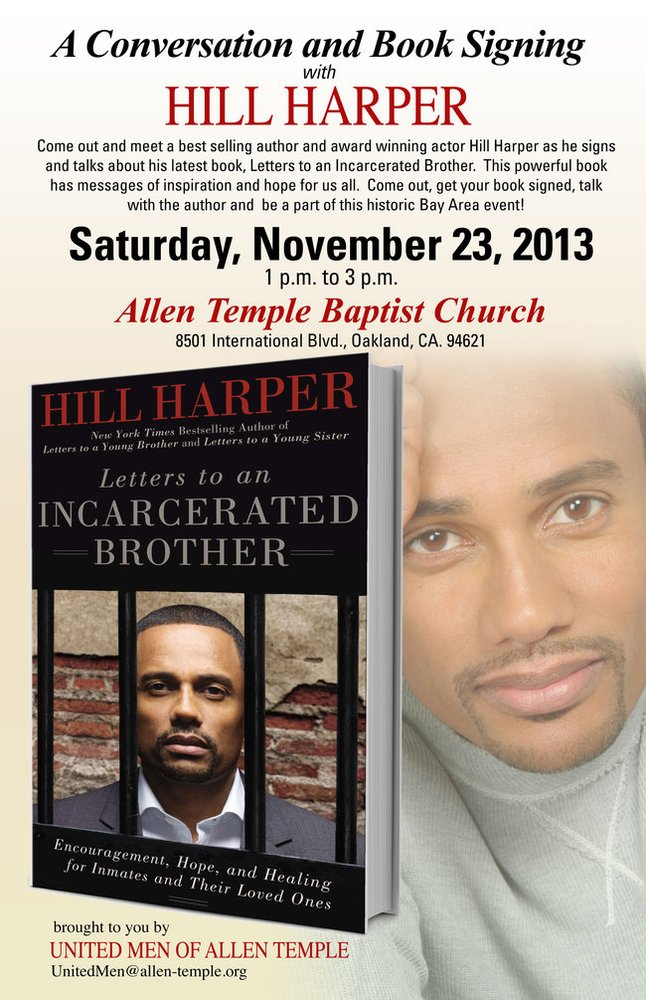 Conversation Book Signing With Actor Hill Harper Nov 23rd